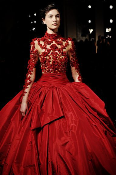 Aliexpresscom Buy High Neck Red Wedding Dress White Tulle With