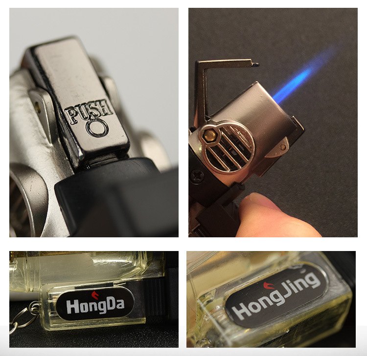 Portable Spray Gun Welding Torch Lighter Key Ring With Turbo 1300 C Windproof Fire Starter Outdoor 8