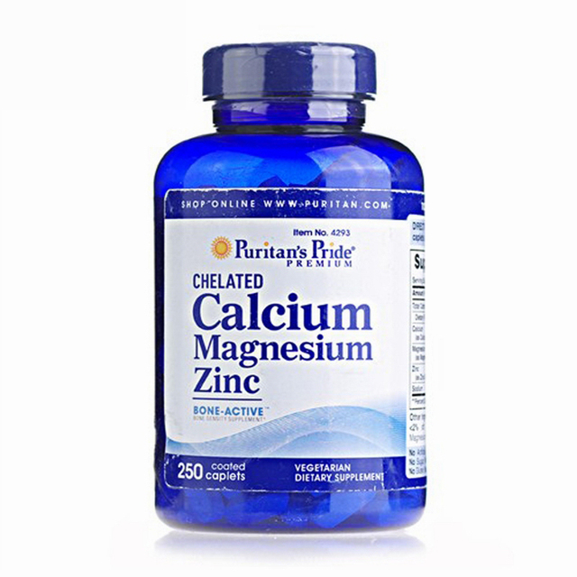 USA Chelated Calcium Magnesium Zinc-250 Caplets free shipping