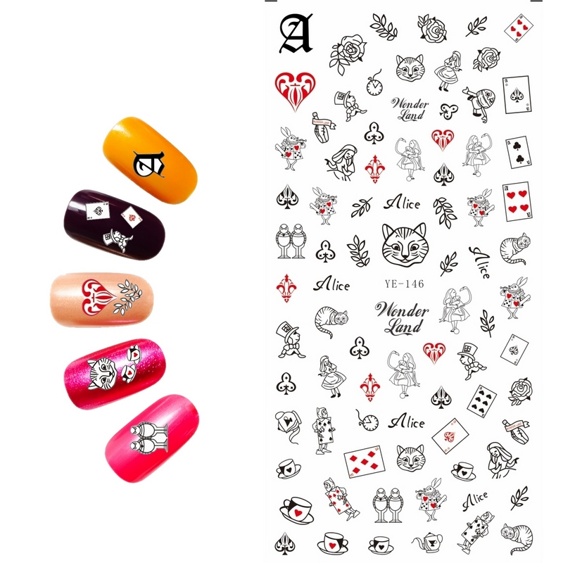 Uprettego Nail Art Beauty Water Decal Slider Sticker Cartoon Anese My Melody Cat Magician Ye142 147 In Stickers Decals From Health On