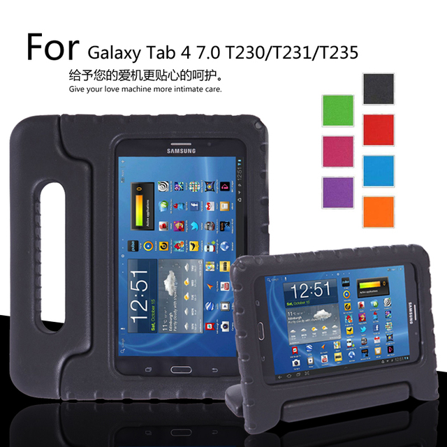 Для Samsung Galaxy Tab 4 7.0 T230/T231/T235 Надежная защита от повреждений EVA полное покрытие тела Детей Силикона shell