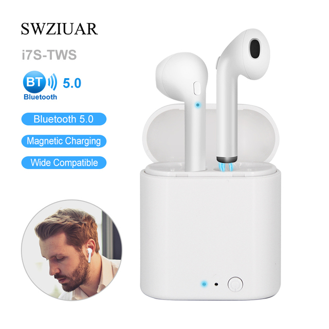 i7 Bluetooth Earphone i7s TWS Mini True Wireless Headset For Air Earbuds For Smart Phone with Charging Podss Box Dropshopping