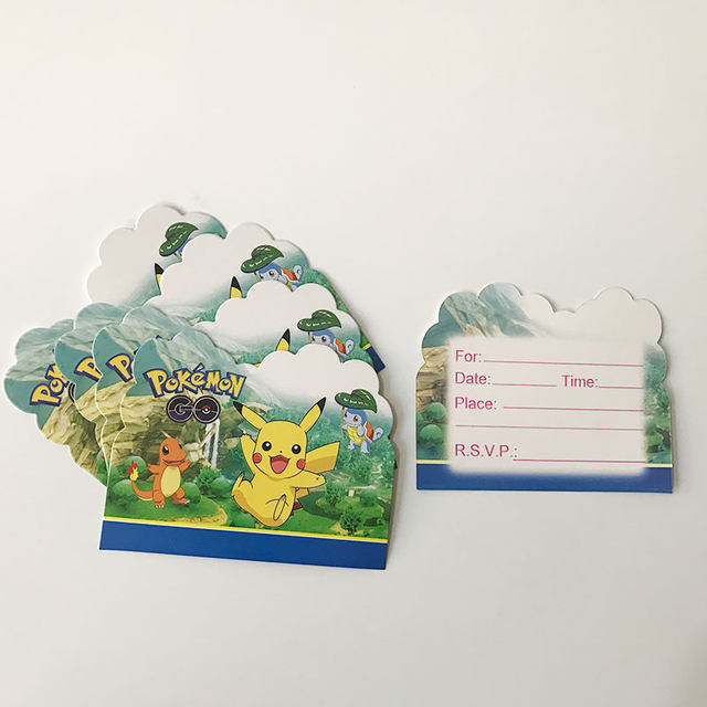 Online shop 10pcs pokemon theme party paper invitation card birthday 10pcs pokemon theme party paper invitation card birthday party decorations kids emoji poppy baby shower supplies party favors stopboris Choice Image