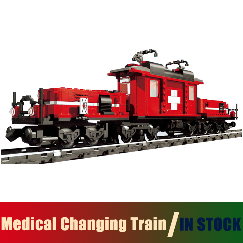 Compatible Lego Technic creator 10183 Models Building Toy The Medical Changing Train 1130pcs 21011 Building Blocks Toy & Hobbies lego creator 31045 лего криэйтор морская экспедиция