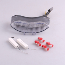 For Triumph DAYTONA 675 2005-2010 LED Rear Tail Brake Light Turn Signal Lamp Integrated Clear
