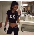 2016 New Women Tracksuits Sexy Short Tops and Leggings with Sashes 2 Piece Set