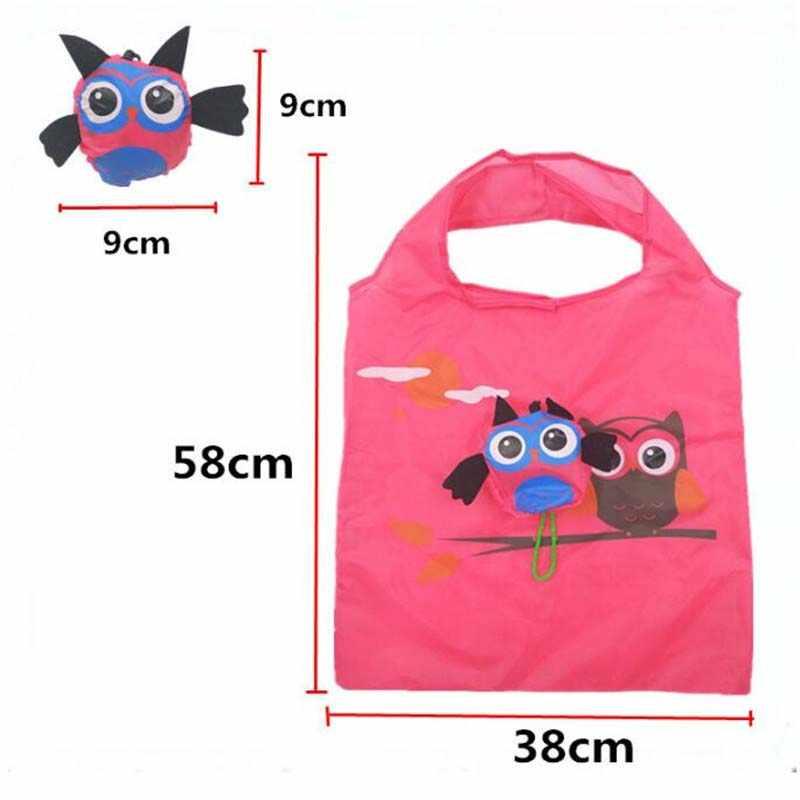 Милое животное, сова Форма складная сумка для покупок эко-дамы подарок складные многоразовые сумка Портативный дорожная сумка