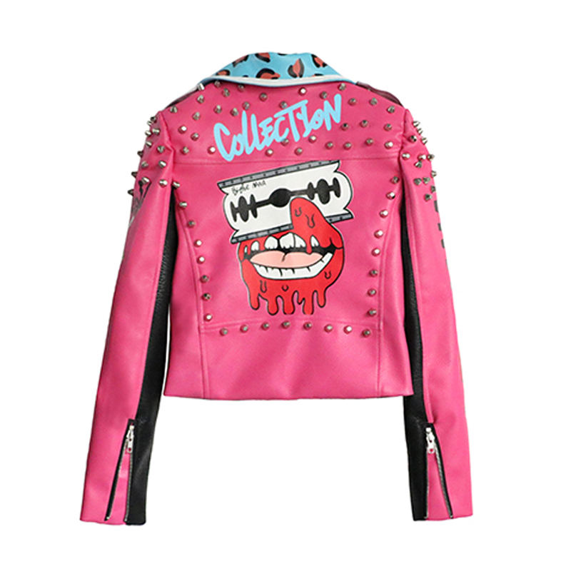LORDXX Leather Jacket Women Streetwear Club Punk 2018 Autumn Fashion Cropped Jacket With Belt Multicolor Motorcycle Coats-in Jackets from Women's Clothing    2