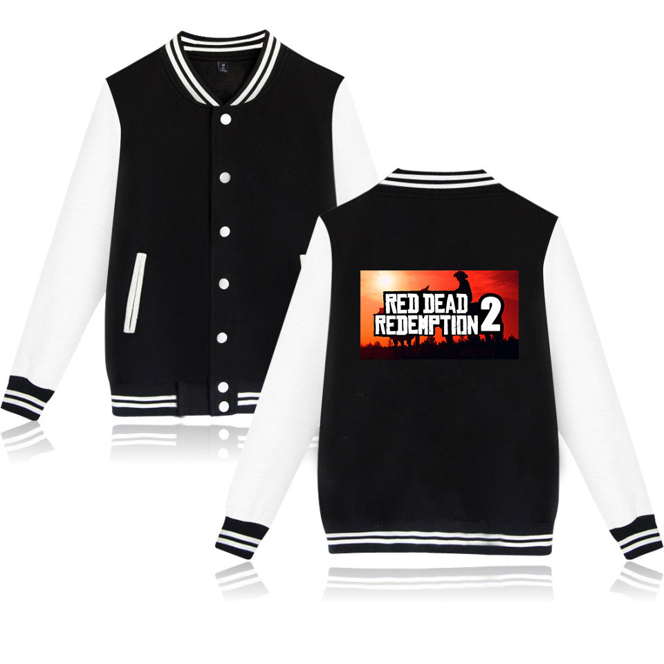 Hot Game Printed Red Dead Redemption 2 Baseball Jacket Hoodies Pullover Women/men Bomber Jacket Streetwear Coat XXS To 4XL