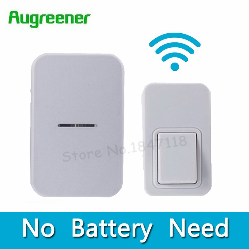 2017 No Battery Need Electronic Door Bell Wireless 25 Chimes Waterproof LED Doorbell With 1 Push Doorbells Button + 2 Receivers 2 receivers 60 buzzers wireless restaurant buzzer caller table call calling button waiter pager system