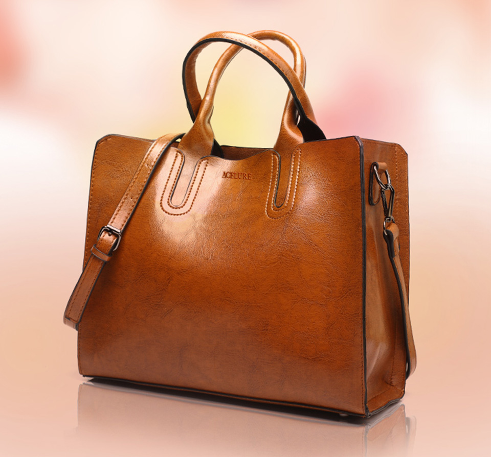 Women's Pure Tote Leather Handbag By Acelure 2