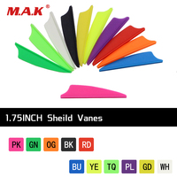 11/Color 60/120pcs 1.75 Inches Plastic Feather Sheild Vanes DIY Arrow for Outdoor Archery Shooting