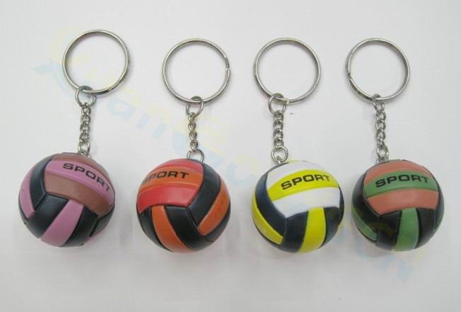 Volleyball bag Pendant mini volleyball key chain plastic key ring small Ornaments sports advertisement fans souvenirs gifts