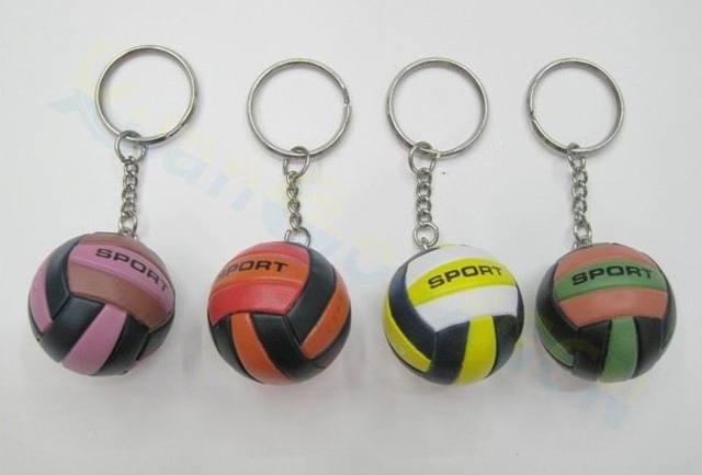 2 piezas bolsa de voleibol colgante mini llavero de voleibol llavero de plástico pequeños adornos deportes publicidad fans regalos de recuerdos