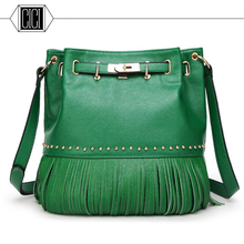 Hot Sale 2016 Fashion Women Leather Tassels Bags Shoulder Tote fringe Bags