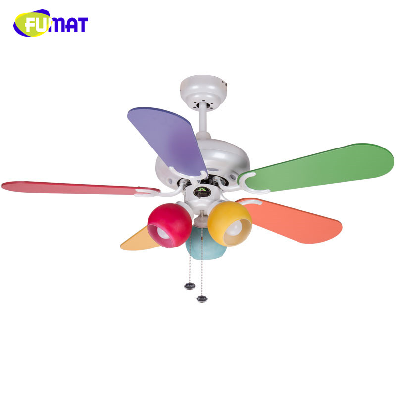 FUMAT Wooden Ceiling Fans Lamp Colour Wood Leaf Ceiling