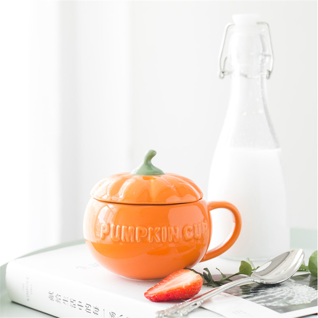Beautiful Halloween Pumpkin Cup and Cover 250ml 3