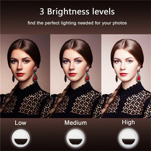 Image 3 - FGHGF Clip On Ring Light for Camera Selfie LED Camera Light with 36 LED for Smart Phone Camera, Round Shape