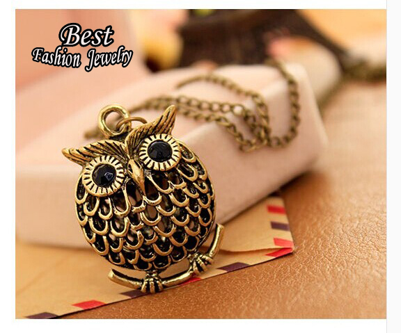 Cute Owl Long Chain Necklace