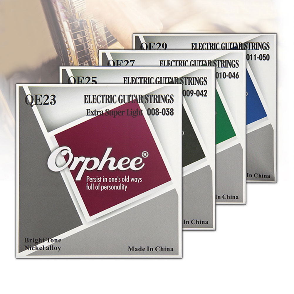 NEW Professional Guitar Strings Orphee QE Series Nickel Alloy Plated Electric Guitar Strings Replacement  QE23 /QE25/ QE27/QE29 цена