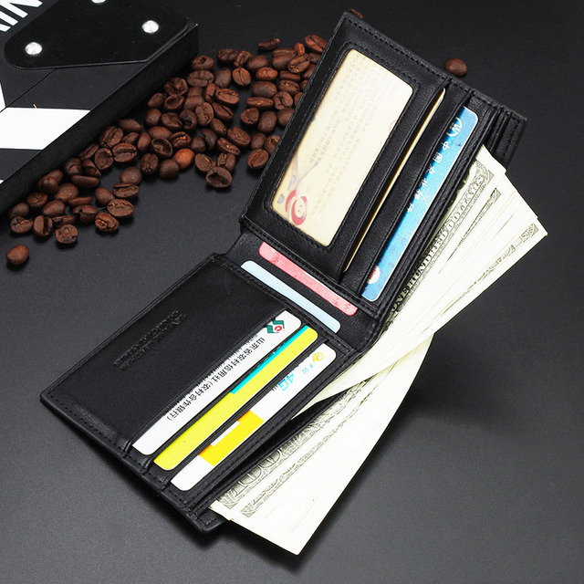 Men Wallets Leather Male Luxury Famous Brand Casual Quality Credit Card Holder Purse Wallet Coin Pocket Black Billetera Hombre 4