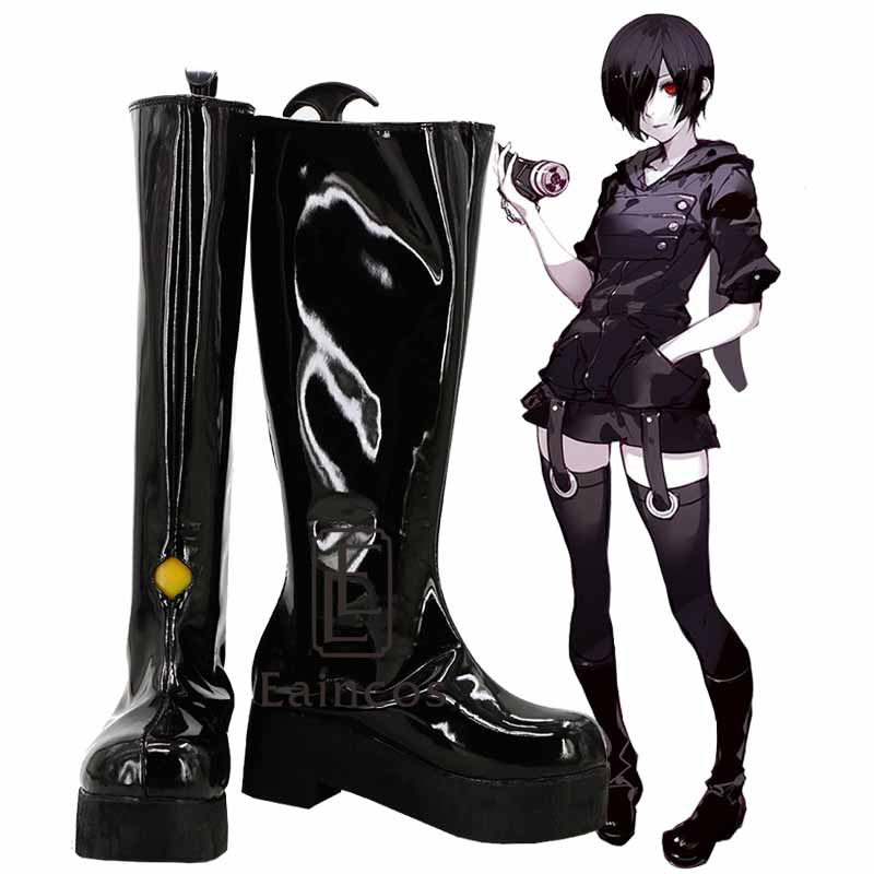 Anime Tokyo Ghoul Touka Kirishima Black Boots Cosplay Party Shoes Custom-made