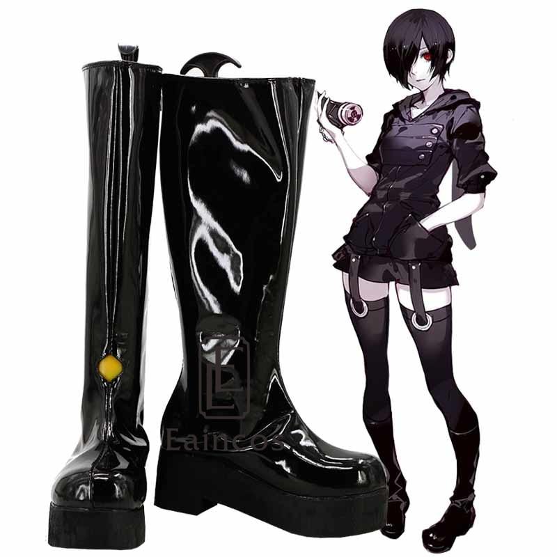 Anime Tokyo Ghoul Touka Kirishima Black Boots Cosplay Party Shoes Custom-made