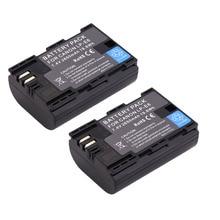 Livraison gratuite 2 pcs Plein code bateria LP-E6 LPE6 LP E6 Batteries Pour Canon 5D Mark II Mark III 6D 7D 60D 60Da 70D 80D DSLR