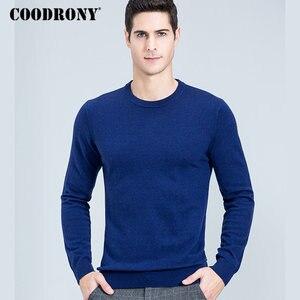 Image 4 - Свитер COODRONY мужской из мериносовой шерсти, Классический Повседневный пуловер с круглым вырезом, мужские зимние толстые теплые кашемировые свитера, модель 315