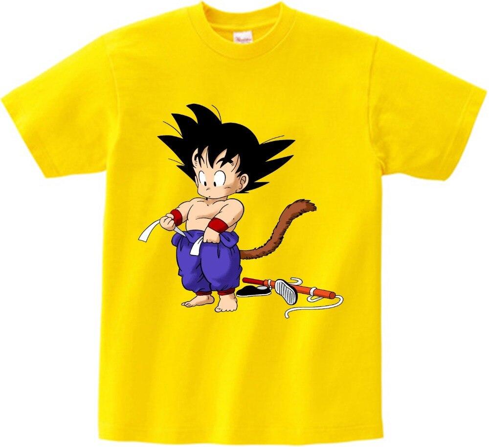 Dragon Ball Z Goku Unisex Infants Toddler Girls Short Sleeve T-Shirt Round Neck Short Sleeve Cotton Tees