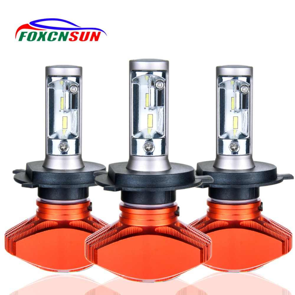 Foxcnsun H4 H7 Led H11 H1 9005 HB3 9006 HB4 9003 HB2 H3 H8 H9 Headlight Bulb Car Light 24V 12V Automobiles 6500K CSP 80W 8000LM