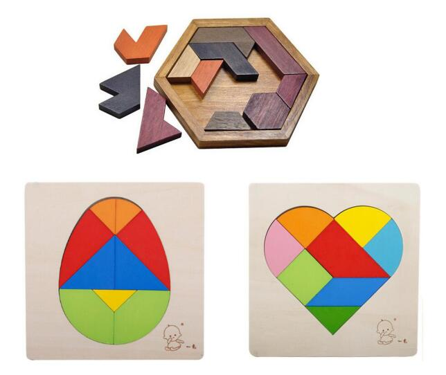 2017 New IQ Wooden Puzzle Mind Brain Teaser Puzzles Board Game for Adults Children Kids