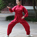 Traditional Chinese Women Sportswear Silk Satin Tai Chi Suit Female Vintage Button Clothing M L XL XXL XXXL 01