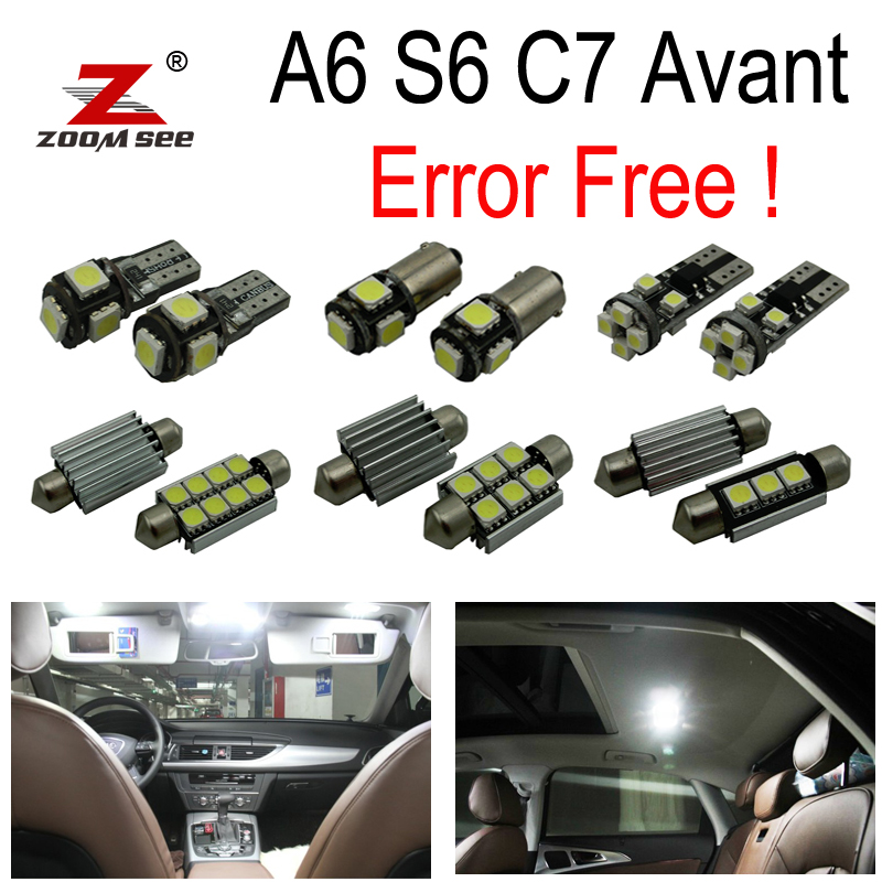 17pc x Error Free Interior Dome + Vanity mirror + Trunk + Door + Glove LED light Kit for Audi A6 S6 RS6 C7 Avant Wagon (2012+) все цены