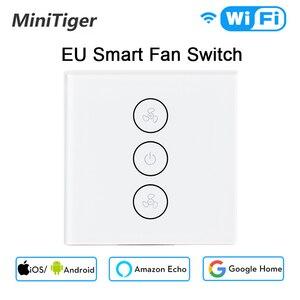 Image 1 - Interruptor del ventilador de techo inteligente WiFi, Control de velocidad y temporizador, aplicación remota, Compatible con Alexa y Google Home, UE/EE. UU.