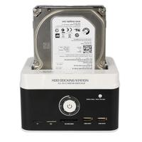 USB 3 0 To SATA Dual Bay External Hard Drive HDD Docking Station With Offline Clone