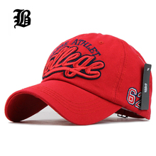[FLB] Baseball cap Cotton Embroidery Casual Fitted Dad hats