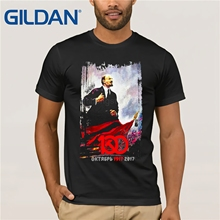 Vladimir Lenin T-Shirt Russian Communist Revolution 100 Years 1917 2019 4 Colors jurney Print t-shirt стоимость