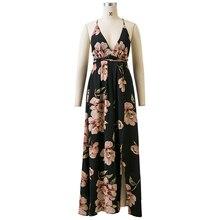 Floral Spaghetti Strap Maxi-Dress