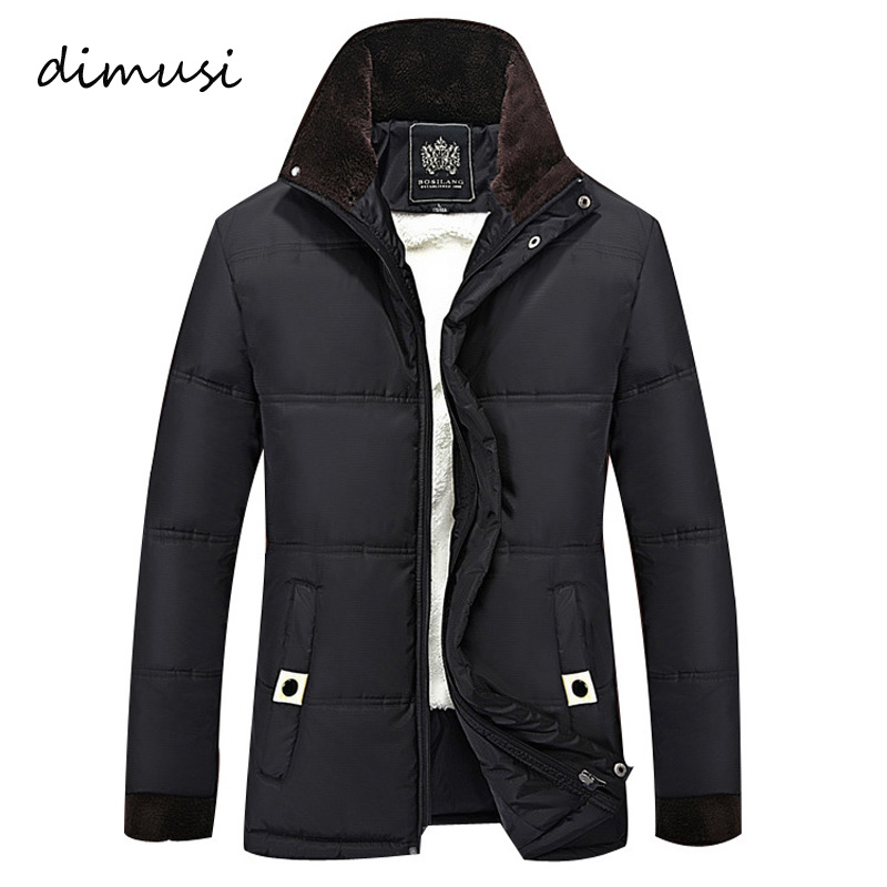 DIMUSI Winter Jacket Men Fleece Thick Warm Jacket Hooded   Parkas   Men padded Winter Jacket Casual Hooded Winter Coat Men 4XL,TA007