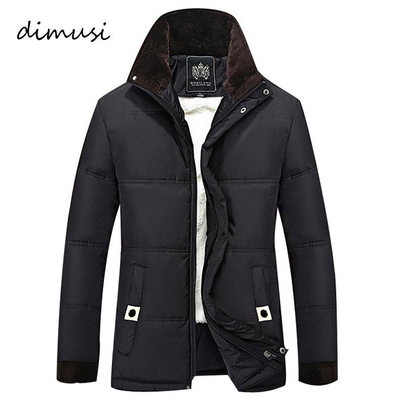 Dimusi зимняя куртка Для мужчин флис теплая плотная куртка парки с капюшоном Для мужчин подкладкой зимняя куртка Повседневное Зимнее пальто с ...