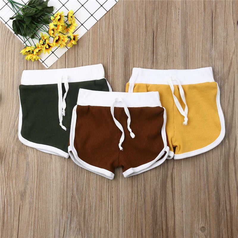 2019 Summer Short Fille Cotton Baby Shorts Knitting Yellow Shorts Toddler Girls Shorts Kids Baby Girl Casual Kids Beach Clothes