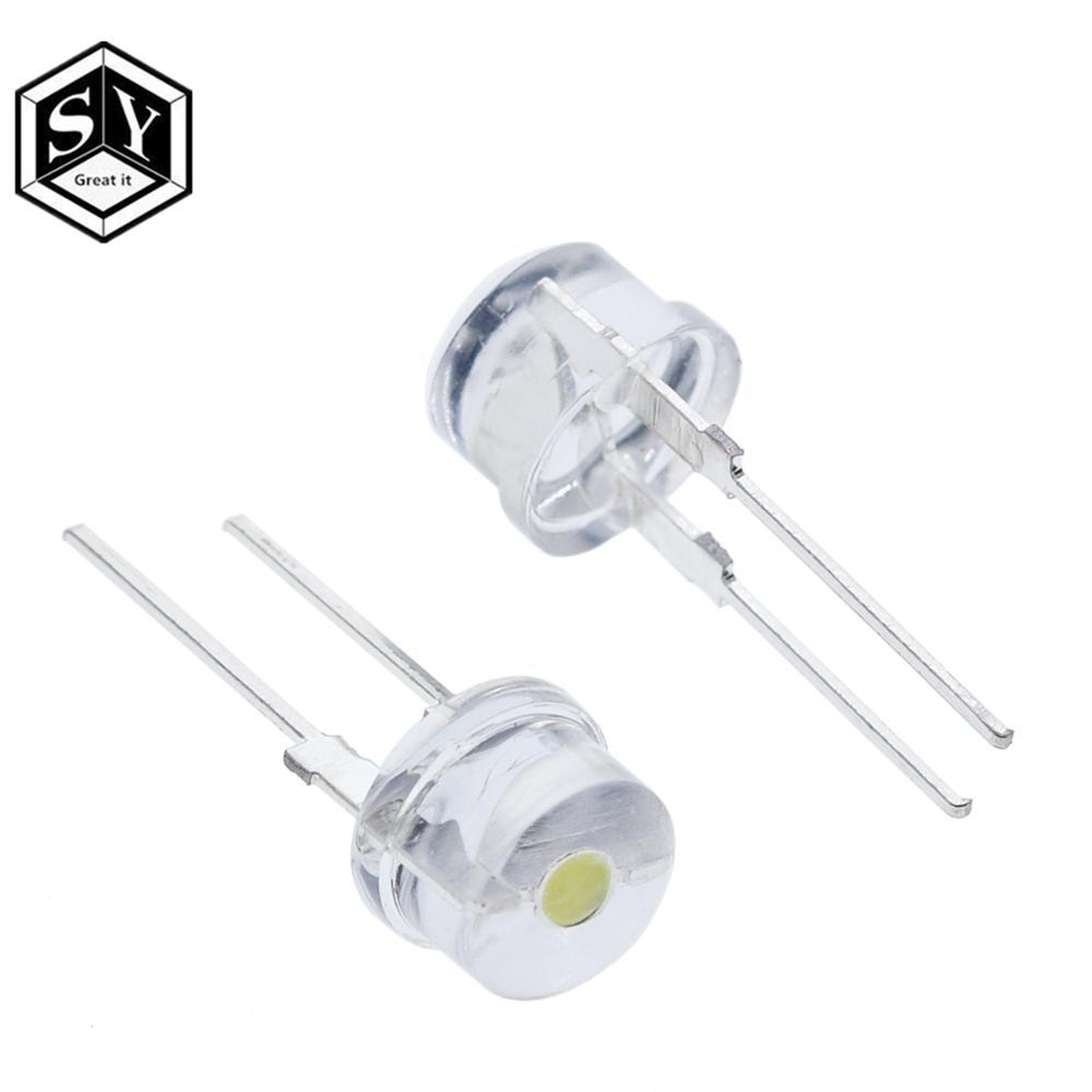 10PCS 8MM Straw Hat 0.5W LED Light Emitting Diode White LED High Power