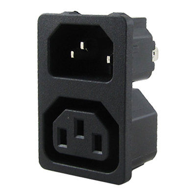 AC 10A 250V IEC 320 C13 Male C14 Female Inlet Power Socket ac 250v 10a iec 320 c13 c14 inlet panel power socket w fuse holder
