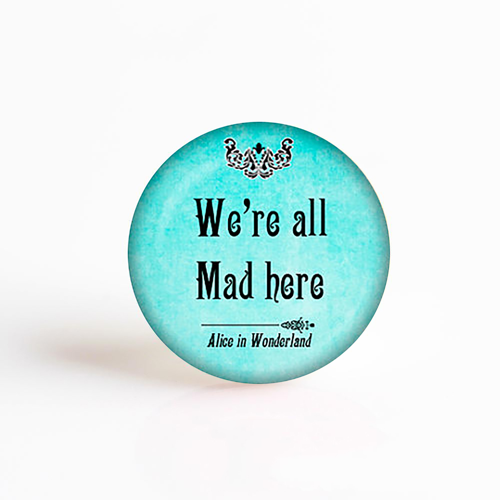 5PCS SET I 39 m Not Crazy Cheshire Cat Quote Alice In Wonderland Handmade Pendant Glass Cabochon Jewelry Accessories in Jewelry Findings amp Components from Jewelry amp Accessories