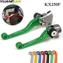 цена на Motorcycle Accessories Handlebar CNC Clutch Brake Levers For Kawasaki KX250F 2013 2014 2015 2016 Brake Lever Clutch Handle