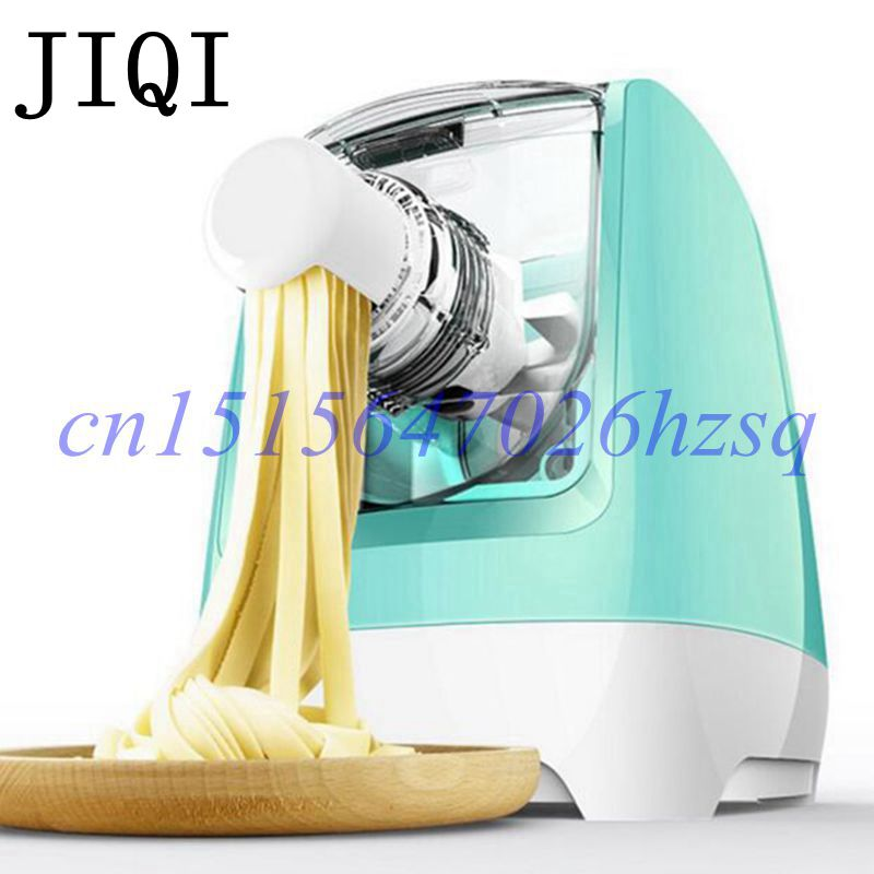 JIQI New Electric noodles machine Nine molds dumpling wrapper/various of noodles Maker Pasta Household full-automatic jiqi stainless steel household rolling dough pressing maker manual noddle pasta machine hand dumpling wrappers wonton machine