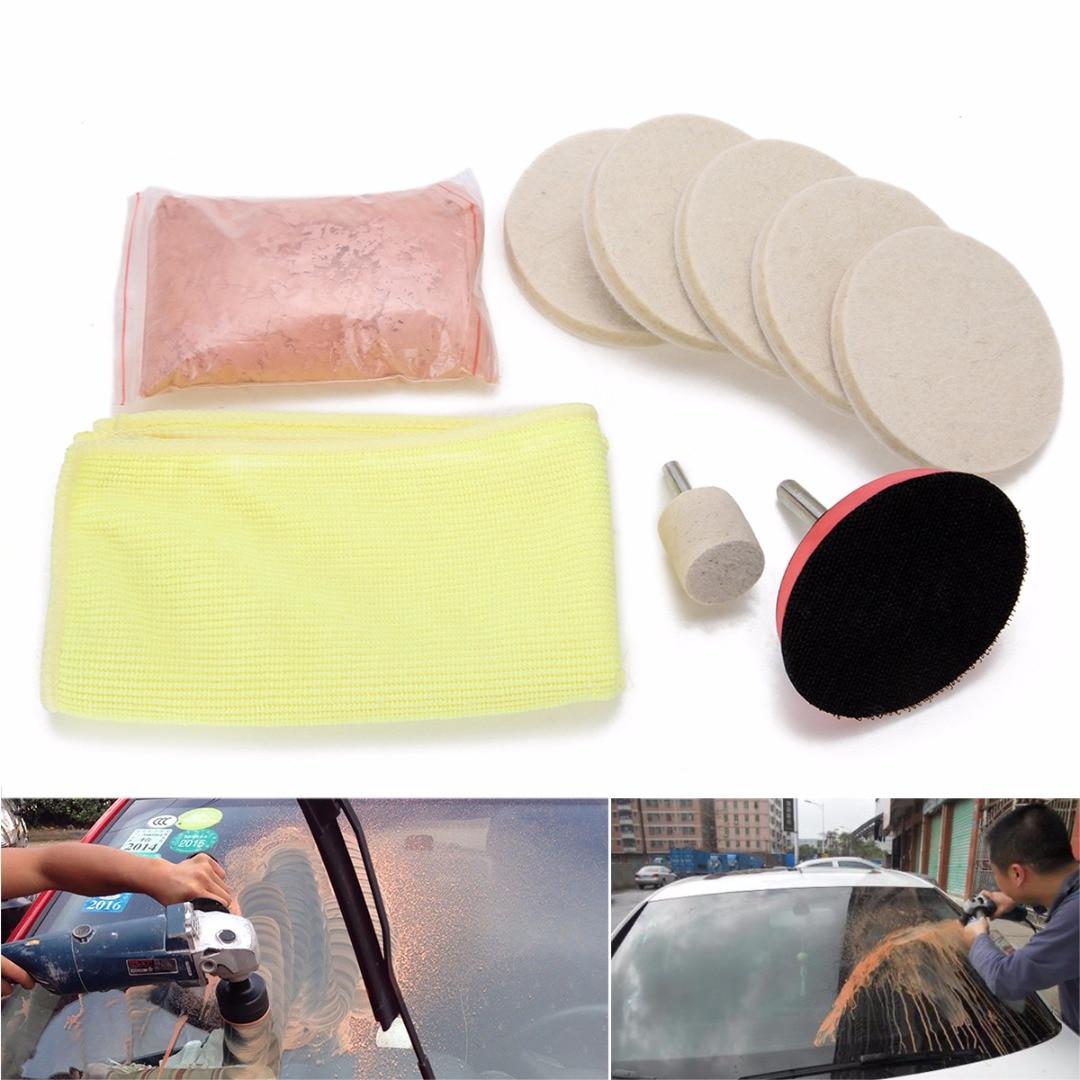 100g Cerium Oxide Powder Glass Polishing Kit Windscreen Mirrors Scratch Remover+3