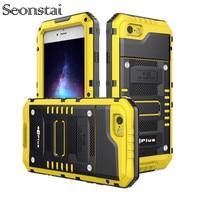 Metal Aluminum Armor Dustproof Water Proof Case For IPhone X 8 7 6S 6 Plus 5