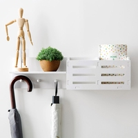 Wood plastic board wall mounted shelf Punch free Small ornaments storage rack for Wall Decoration Living Room Bedroom mx01231714